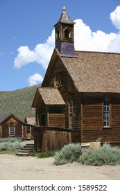 Old church in ghost town of Bodie California