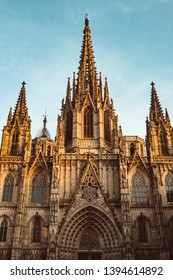 Old Church in the Gothic Quarter of Barcelona. It is aslo called as Barri Gotic. It is Old City of Barcelona.