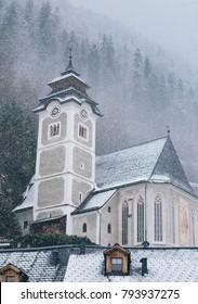 Old church at Hallstatt, Austria
