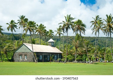 Old church at Hana on Hawaii Island Maui