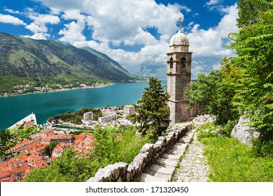 Old church inside Stari Grad, Kotor, Montenegro