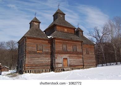 """Old church in Kiev Museum """"Pirogovo"""""""