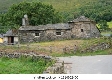 Old church of La Mesa, Camino de Santiago, Asturias, Spain