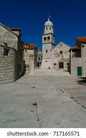 The old church of Saint Jelene Krizarice, Sepurina, Prvic, Croatia