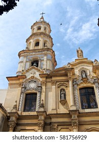 Old church in San Telmo, Buenos Aires, Argentina