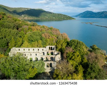 old church surrounded by forest in Butrint national park located in Albania Europe. one of the top archeological sites around the world . saranda . albanai