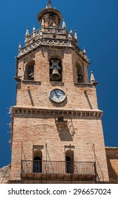 Old church Tower in Ronda, Andalusia Spain near Malaga