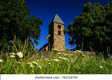 Old churchtower - 13th century church