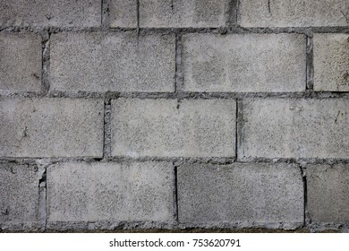 old cinder block wall background and texture.