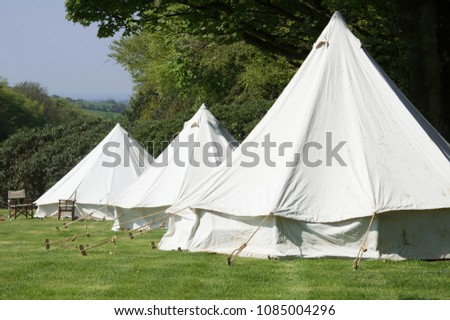 Old circular double canvas tents as used during World War 1 & Old Circular Double Canvas Tents Used Stock Photo (Edit Now ...