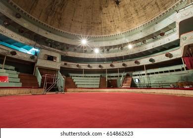 old circus arena interior