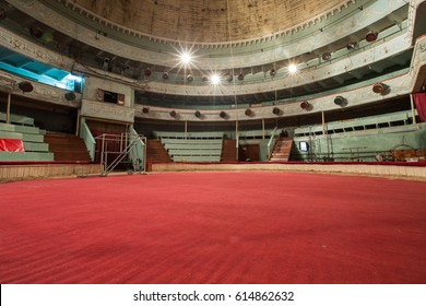 old circus arena interior