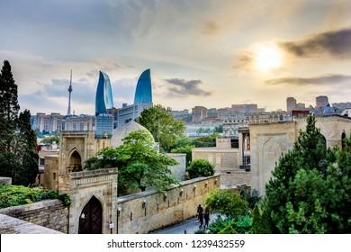 The old city of Baku in Azerbaijan
