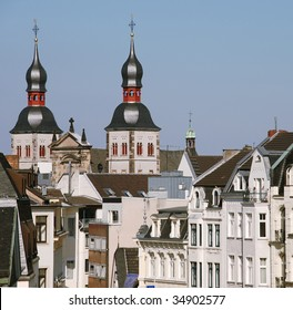 Old city buildings in the center of Bonn, Germany