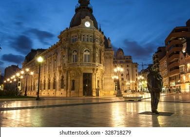Old city Cartagena at night