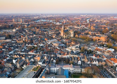 The old city center of Den Bosch seen from above - Shutterstock ID 1687954291