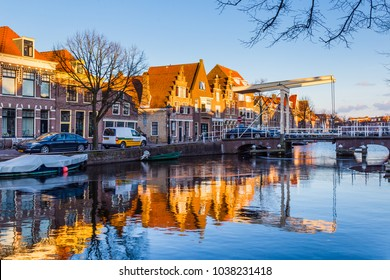 The old city centre of Alkmaar in  North-Holland in the Netherlands. Also known as the city of cheese.