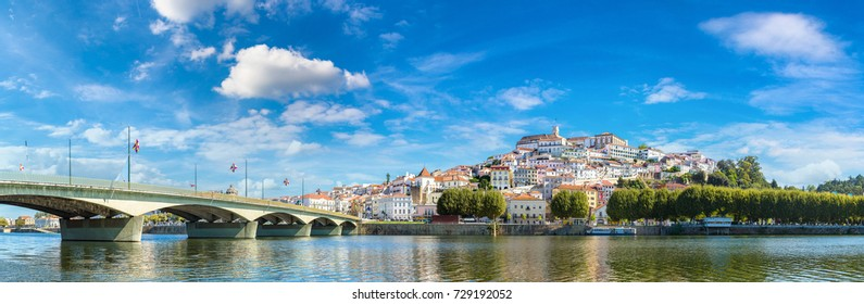 Old city Coimbra, Portugal in a beautiful summer day