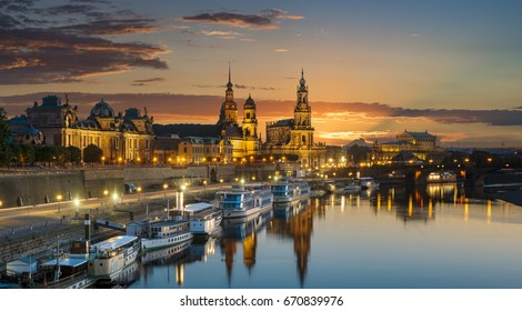Old city of Dresden, Dresden at night