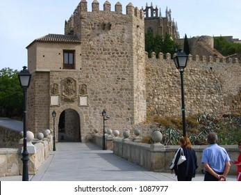Old city gate in Toledo, Spain