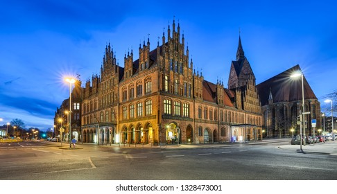 Old City Hall of Hannover, Germany at night