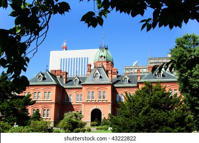 It is old city hall in Sapporo in Japan
