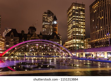 Old City Hall and Skyline in Downtown Toronto, On, Canada, at Night