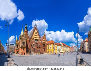 Old City Hall in Wroclaw, Poland in a summer day