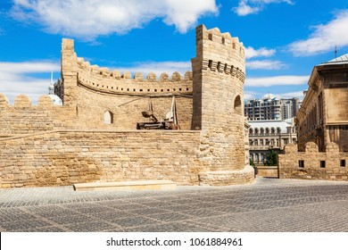 The Old City Icheri Sheher in Baku, Azerbaijan. Inner City is the historical core of Baku and UNESCO World Heritage Site.