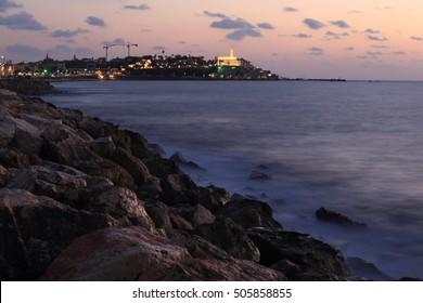 Old city of Jaffa on sunset, Israel