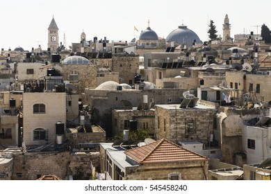 Old City of Jerusalem with the Church of the Holy Sepulchre, Israel