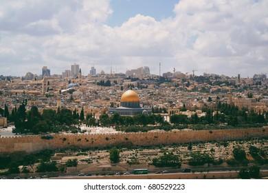 Old City Jerusalem Skyline