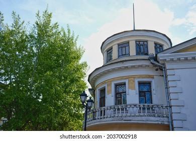 The old city mansion on street Krasnoyarsk, Siberia, Russia.