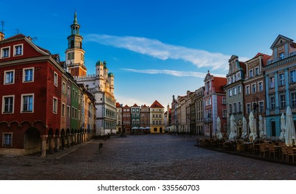 Old city in Poznan. Poznan is a city on the Warta river in west-central Poland, in the region called Wielkopolska (Greater Poland).