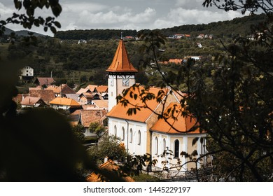 Old City in Sibiu, Romania as seen from up the hill