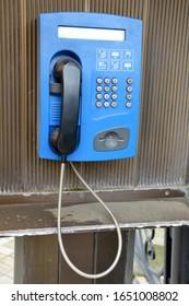 old city telephone street payphone