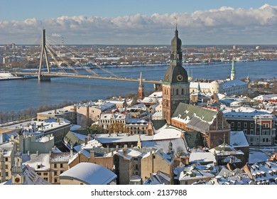 Old city view (Riga, Latvia, Europe)