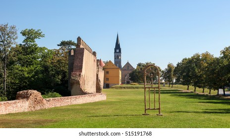 Old City Wall and Church in the center of Vukovar, Slavonia, Croatia