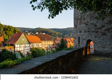 Old city wall with half-shells of the tower, Wernigerode
