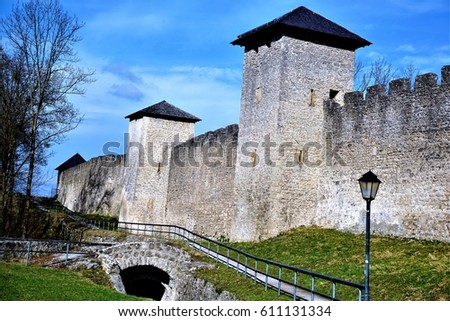 Old city wall of Salzburg