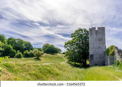 The old city wall of Visby, Gotland, Sweden