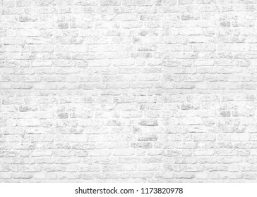 Old city White grunge  large brick  wall texture background
