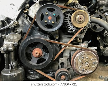 Old Classic car engine