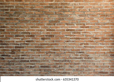 Old clay brick wall texture. Vintage Brickwork Backdrop. Grunge Brick Wall Horizontal Background. Vintage brickwork backdrop or Pattern of modern brick wall. Grunge great for your design