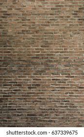 Old clay brick wall texture. Vintage Brickwork Backdrop.