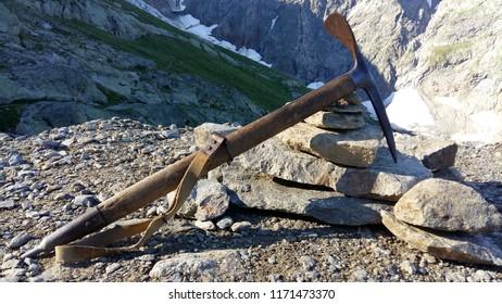 Old climbing ax