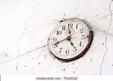 old clock with cobweb