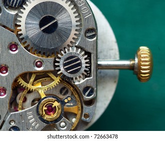Old clock mechanism. Element of design.