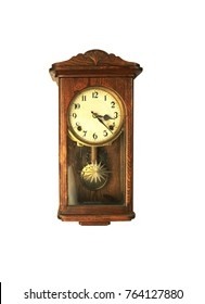 old clock on white