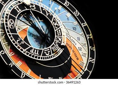 Old clock in Prague Czech Republic - Shutterstock ID 36491263